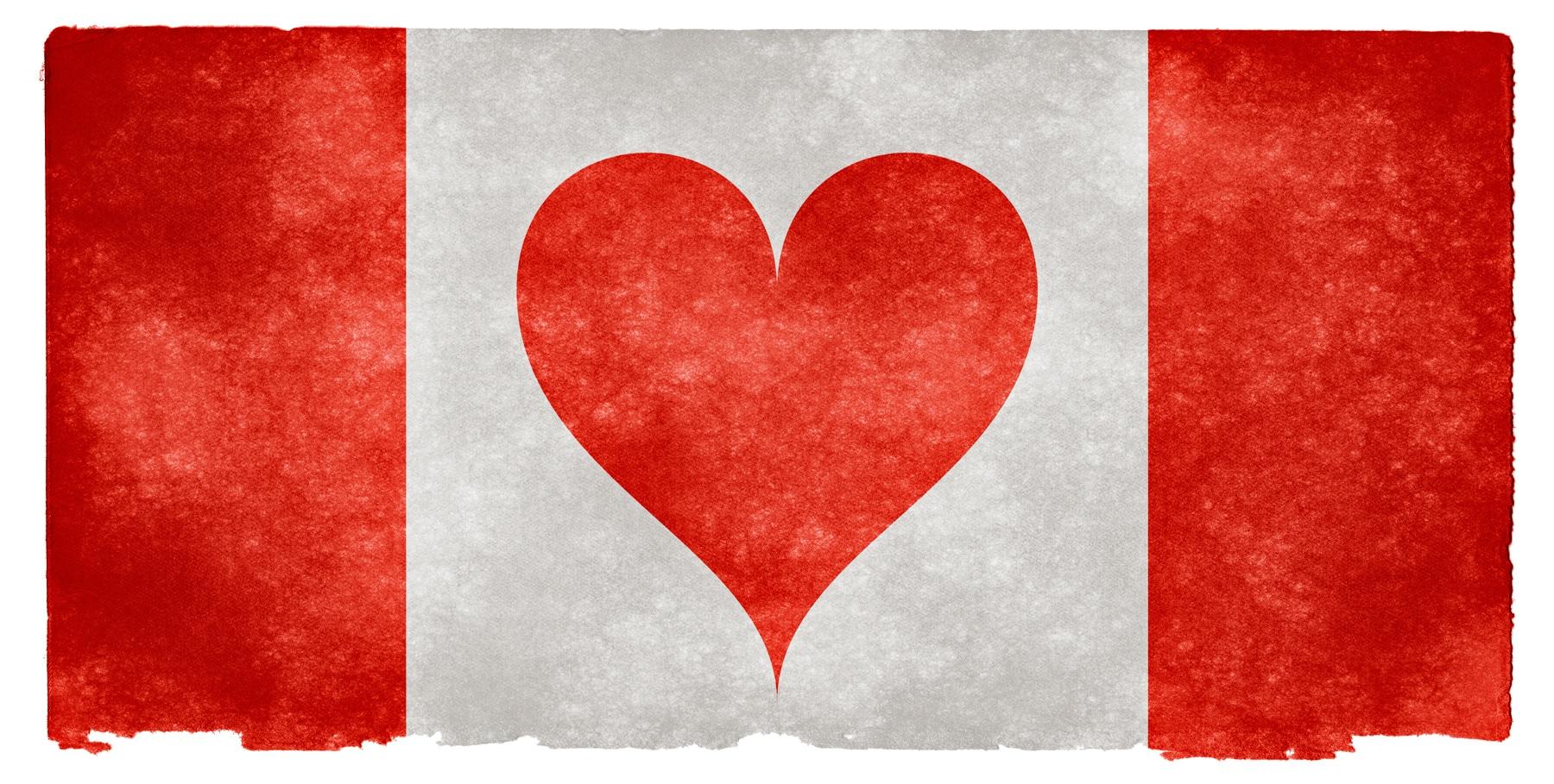 Drapeau Love Canada