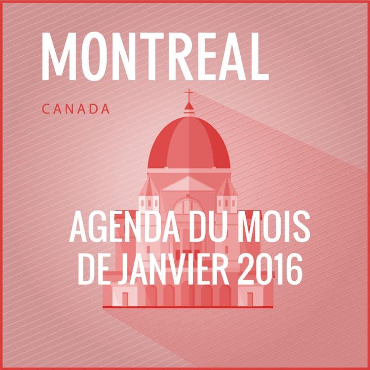 En stage à Montréal : l'agenda du mois de Janvier